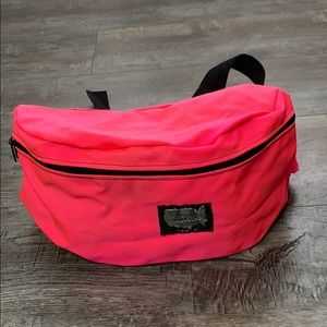 Hot Pink Large Zipper Fanny Pack